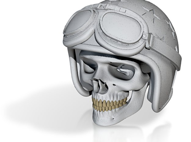 Easy Rider Skull (50mm H) 3d printed RENDER PREVIEW