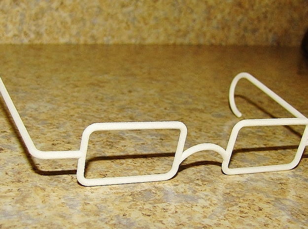 Mrs. Beasley Glasses for 21 3d printed White Rough