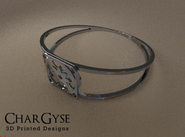 Elegant Bangle - Eight Petal Supported 3d printed Rendered in Blender