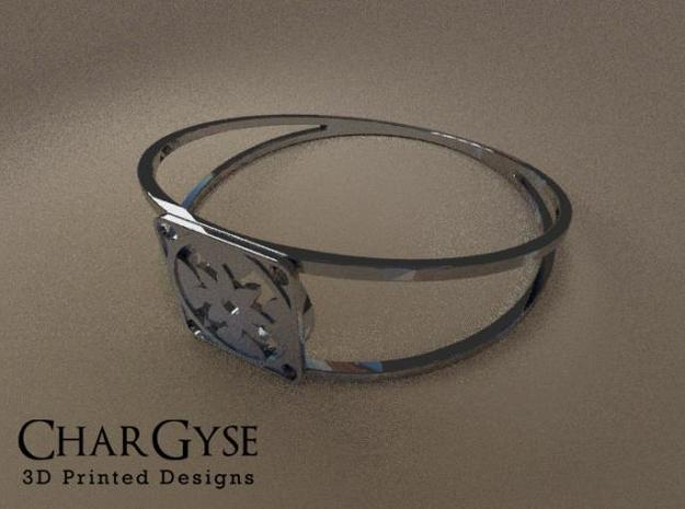 Elegant Bangle - Eight Petal Floating 3d printed Rendered in Blender