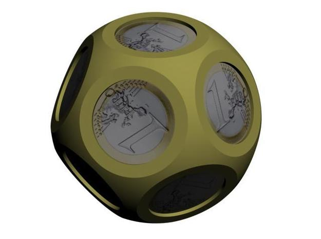 D12Euro 3d printed D12 Euro with coins (CG Rendering)