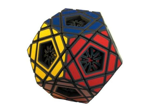 Ad for Multidodecahedron 3d printed Solved