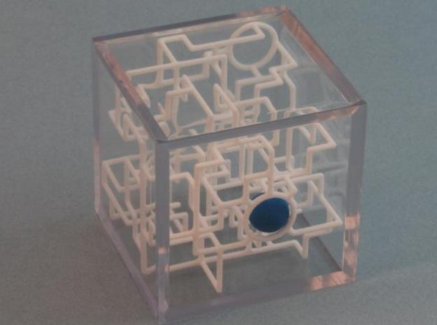 """Bare Bones"" Two-Pack - Rolling Ball Maze in Case 3d printed X marks the spot"