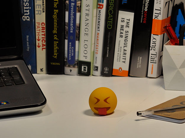 3D Emoji Sticking Tongue Out 3d printed
