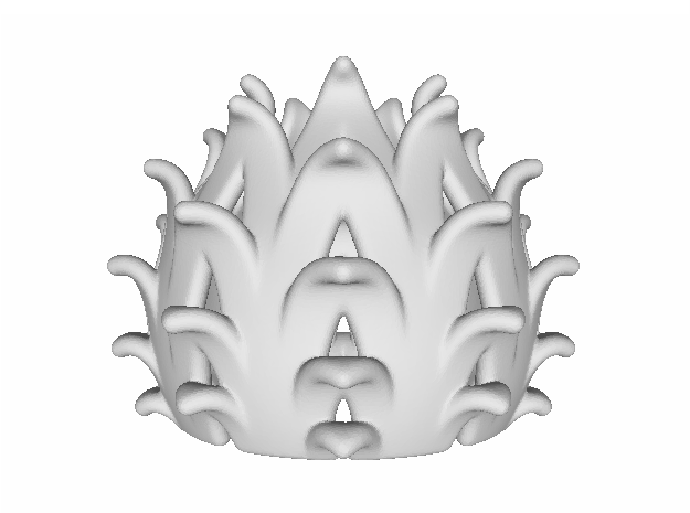 Pierced Thistle Light Cover 3d printed