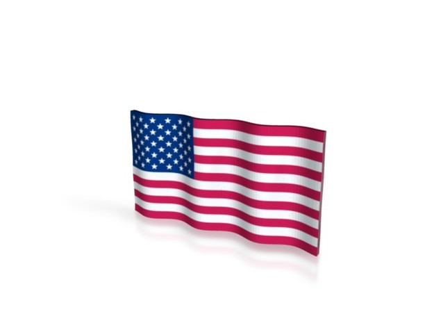 American Flag (Color) 3d printed