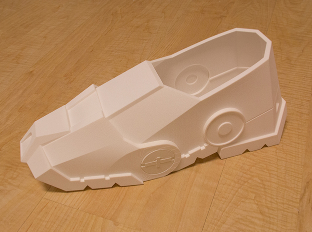 Iron Man Boot (Heel NO sole) Part 1 of 4 3d printed Actual 3D print using Strong & Flexible Plastic (Heel with whole boot)