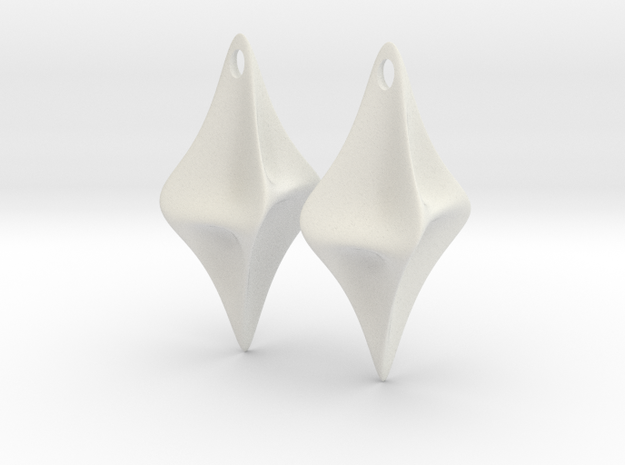 Pinched Earrings 3d printed Pinched Earrings WSF