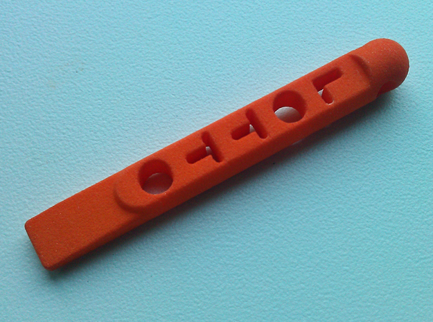 ^tool Lotto Scratch Card Scraper Ver2 3d printed photo - Orange Strong & Flexible Polished