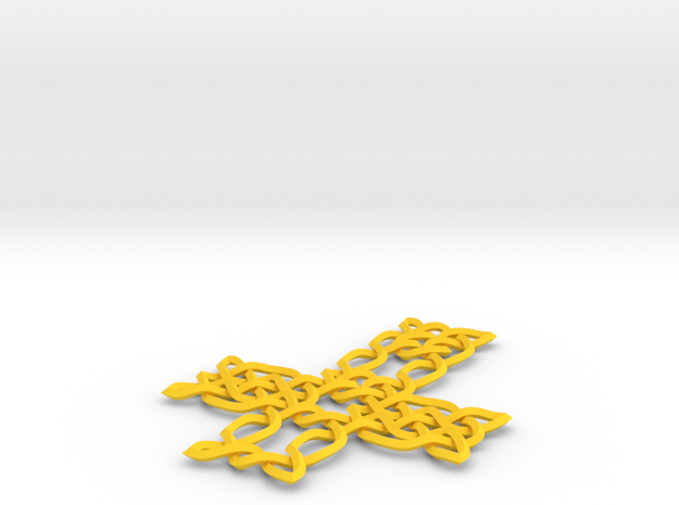 Celtic knot cross 3d printed