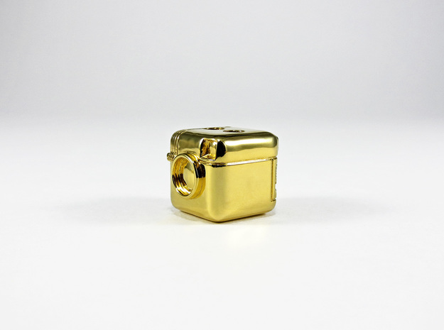 Instagram Style Camera (Pendant 16mm) 3d printed 16mm - Polished Brass