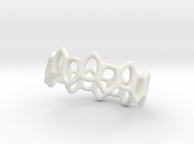 Offset Links ring 3d printed Polished stainless steel