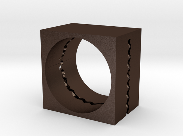 Wavecut ring 3d printed