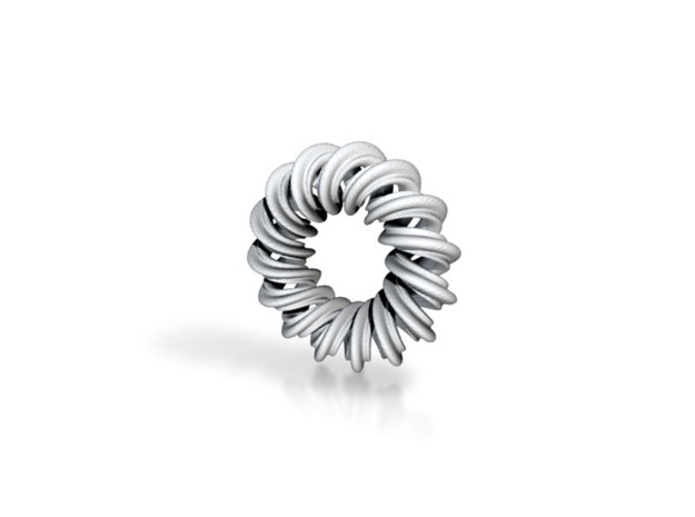 2 strand right hand mobius spiral charm bead 3d printed
