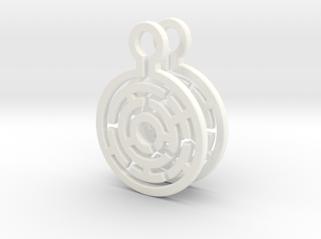 Maze Earrings 3d printed