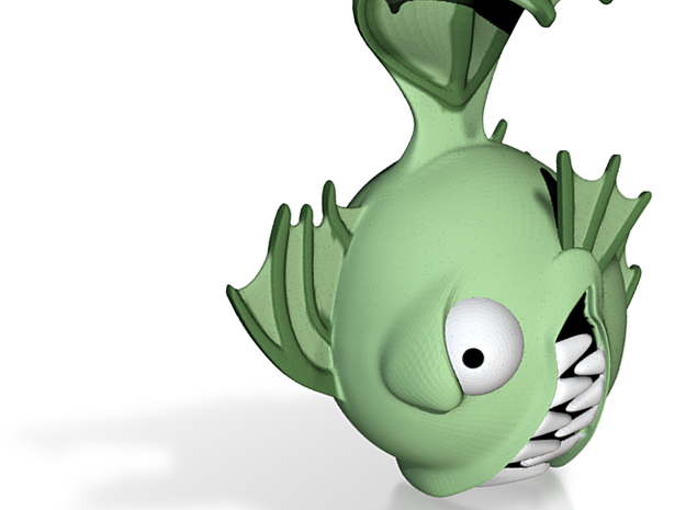 MH Fishface doll head 3d printed