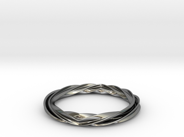 Twist and Flip Bangle 3d printed