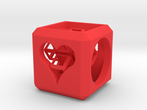 HyperCube (25 mm) with 3d-Cross inside 3d printed