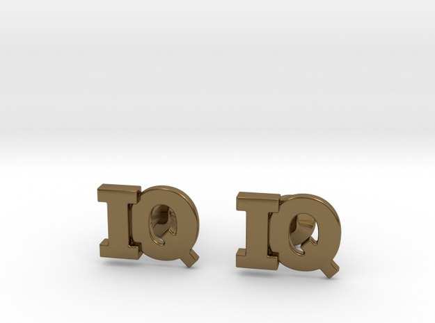 Monogram Cufflinks IQ 3d printed