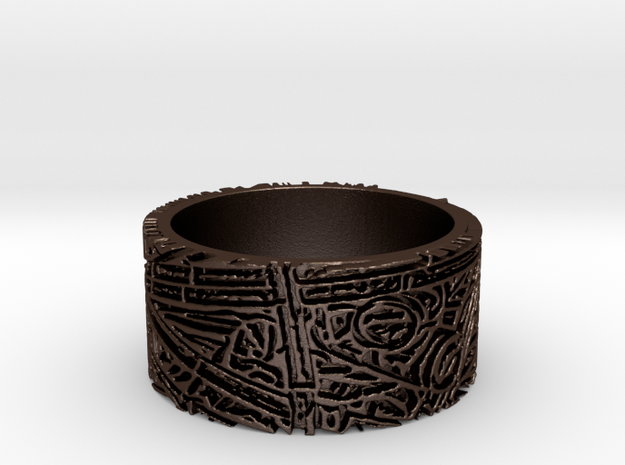 Bamboo Ring Size 12 3d printed