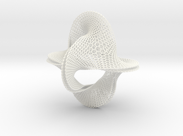 Honeycomb-borromean-surface 3d printed