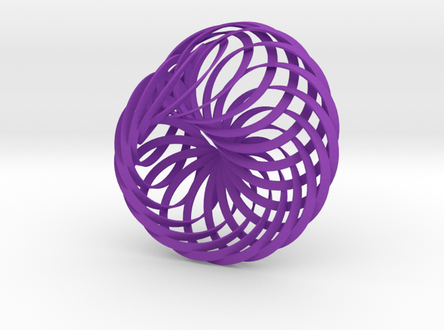 Intersecting Mobius Strips 3d printed