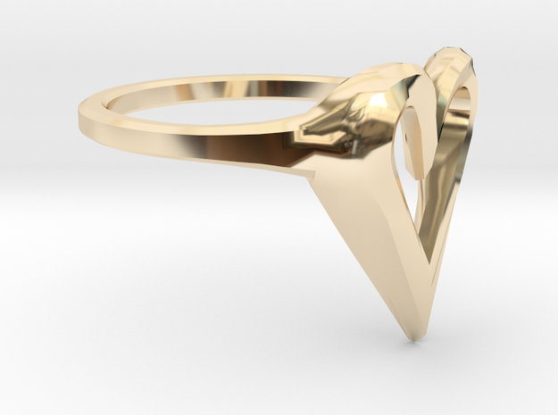 FLYHIGH: Skinny Heart Ring 11mm 3d printed