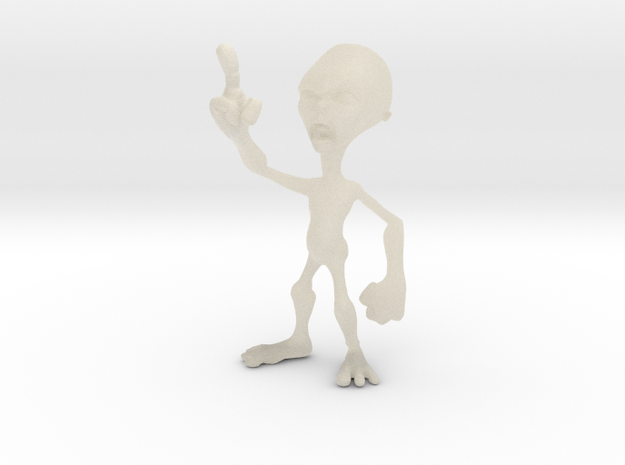 Angry Alien 3d printed
