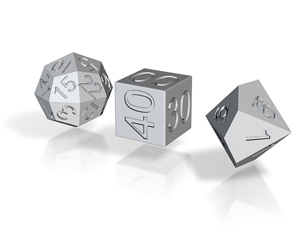 Time Dice 3d printed
