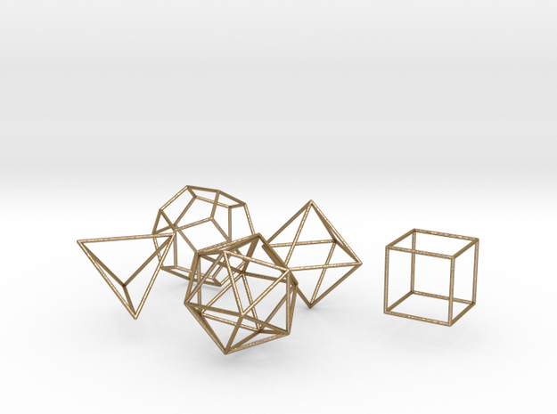 Platonic Wireframe 3d printed