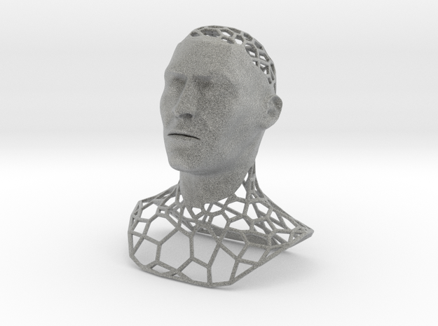 King Polygon Bust (updated) 3d printed
