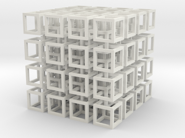 interlocked cubes 4 3d printed
