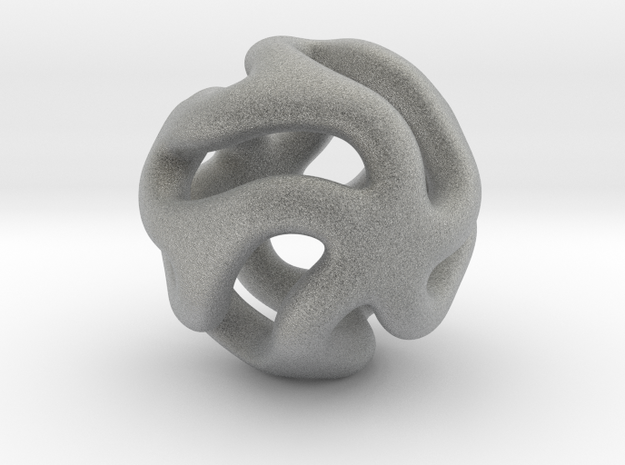 Starfish Kanga Pendant 3d printed Smooth, endlessly flowing contours evoke warmth and youth.