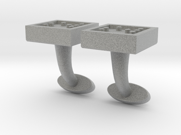 Braille cufflinks square 3d printed