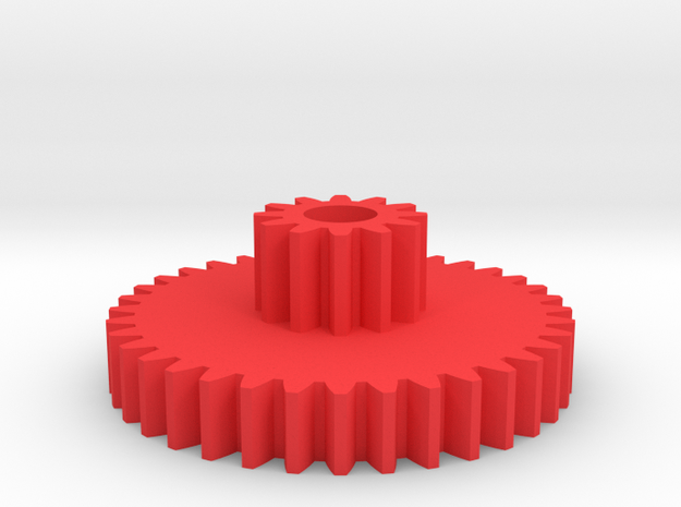 twin spur gear 3d printed