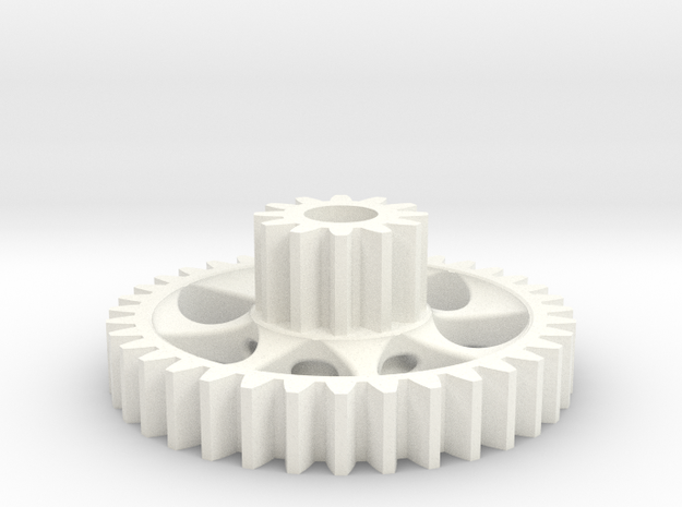 twin spur gear light 3d printed