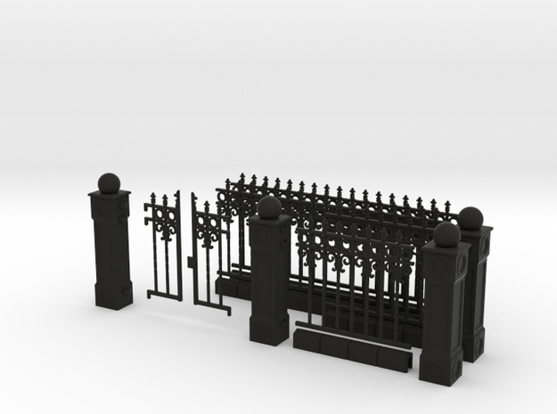 Iron Fence Kit #1 3d printed