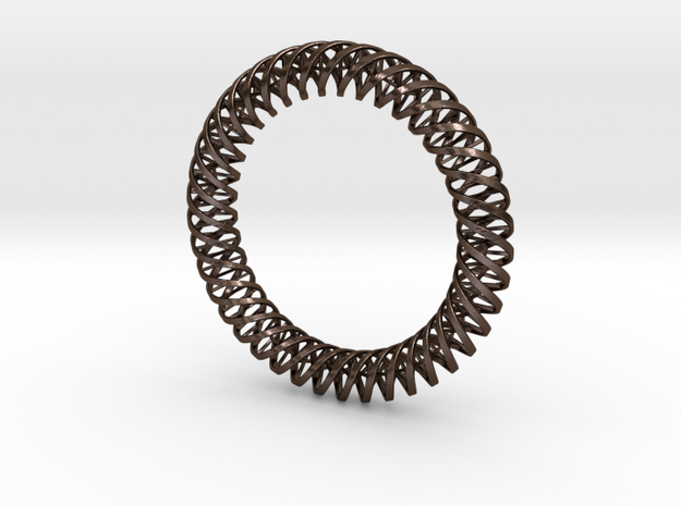 """DNA"" Bangle/Pendant #40 3d printed"