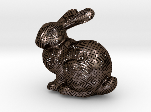 Bunny with Japanese stencil pattern 3d printed