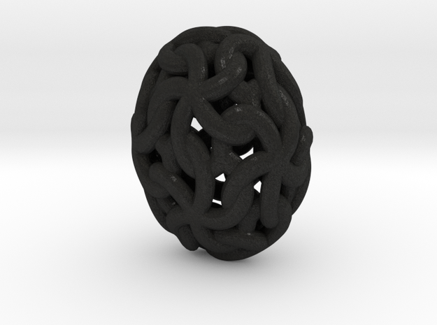 Linked Stars Oval 3d printed