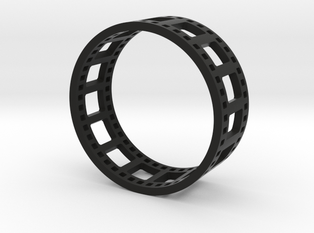 Movie Reel Ring double-size prototype 3d printed