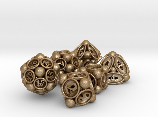 Spore Dice Set 3d printed