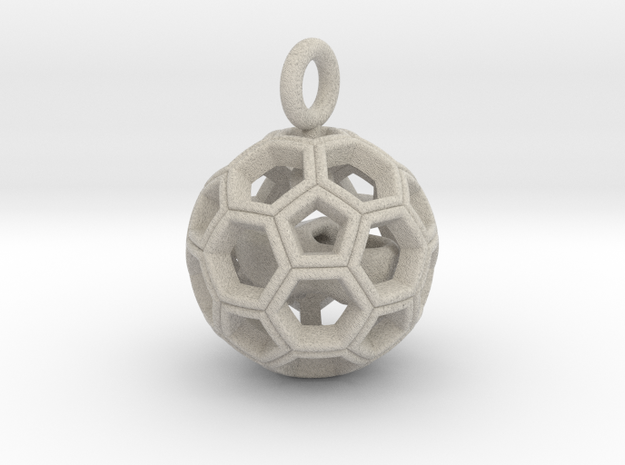 Soccer Ball with Dutch Soccer Shoe Inside 3d printed