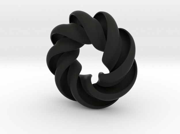 3 Wave Mobius style spiral pendant 3d printed