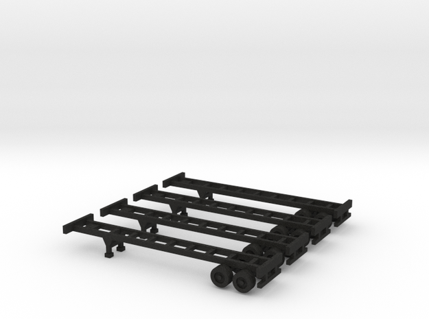 40 foot Chassis - Set of 4 - Zscale 3d printed