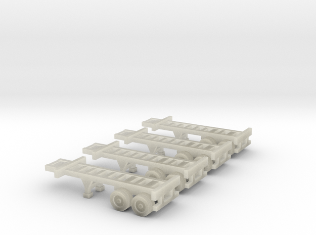 20 foot Container Chassis - Zscale 3d printed