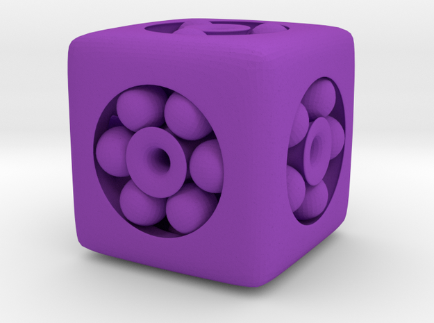 Ball Bearing 6-Sided Die 3d printed