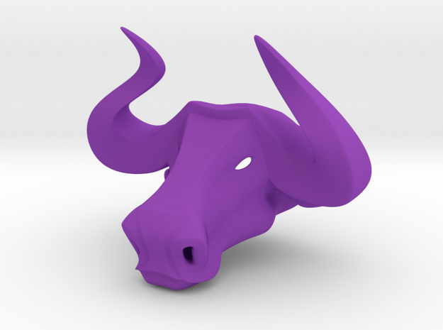 Bull head key ring 3d printed