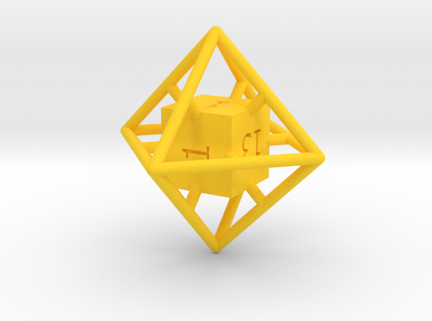 Average D8 Cage Dice 3d printed
