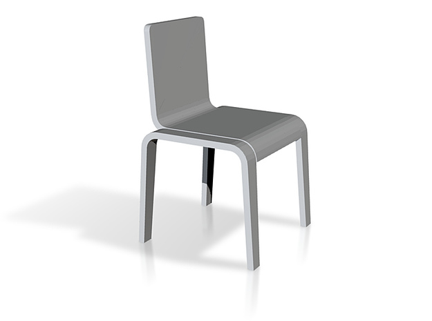 1:24 Bent Chair 3d printed